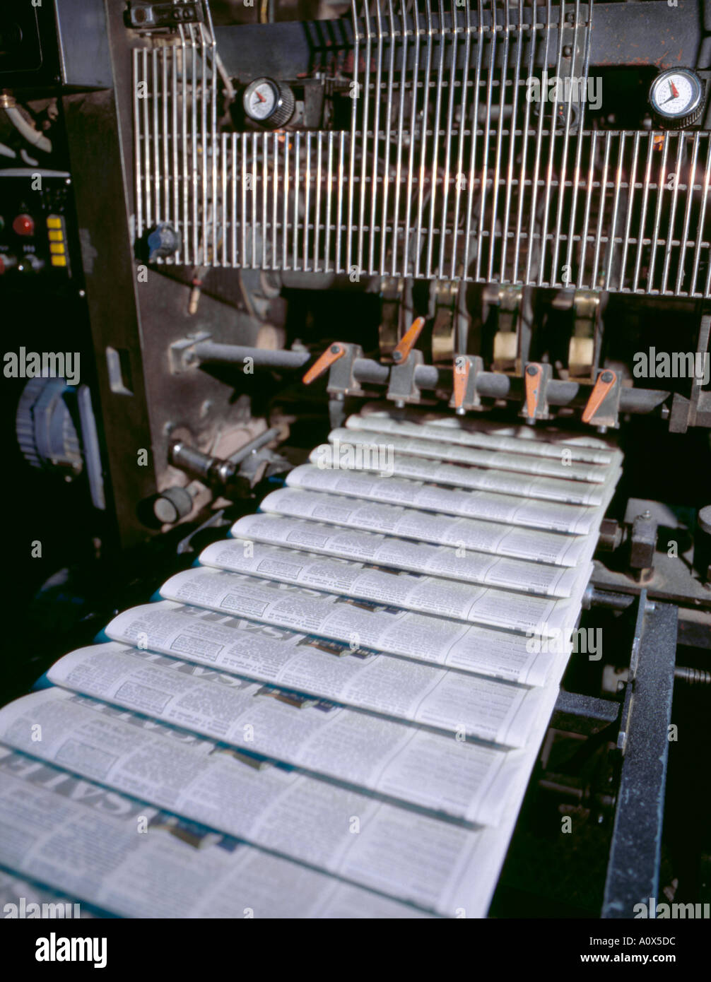 Part of a newspaper printing press, England, UK. - Stock Image