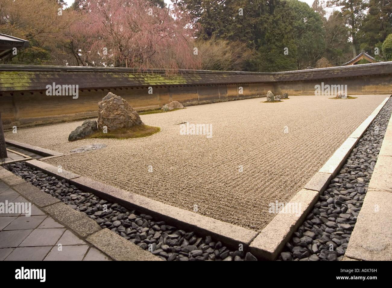 Ryoanji temple dry stone garden and blossom unesco world heritage ryoanji temple dry stone garden and blossom unesco world heritage site kyoto city honshu island japan asia workwithnaturefo