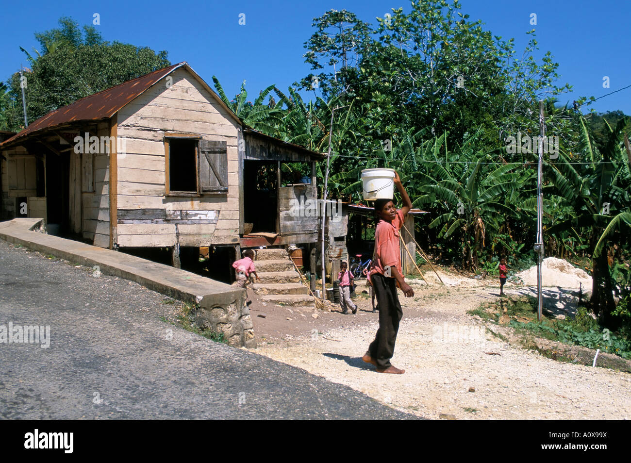 Maroon Town Jamaica West Indies Central America - Stock Image