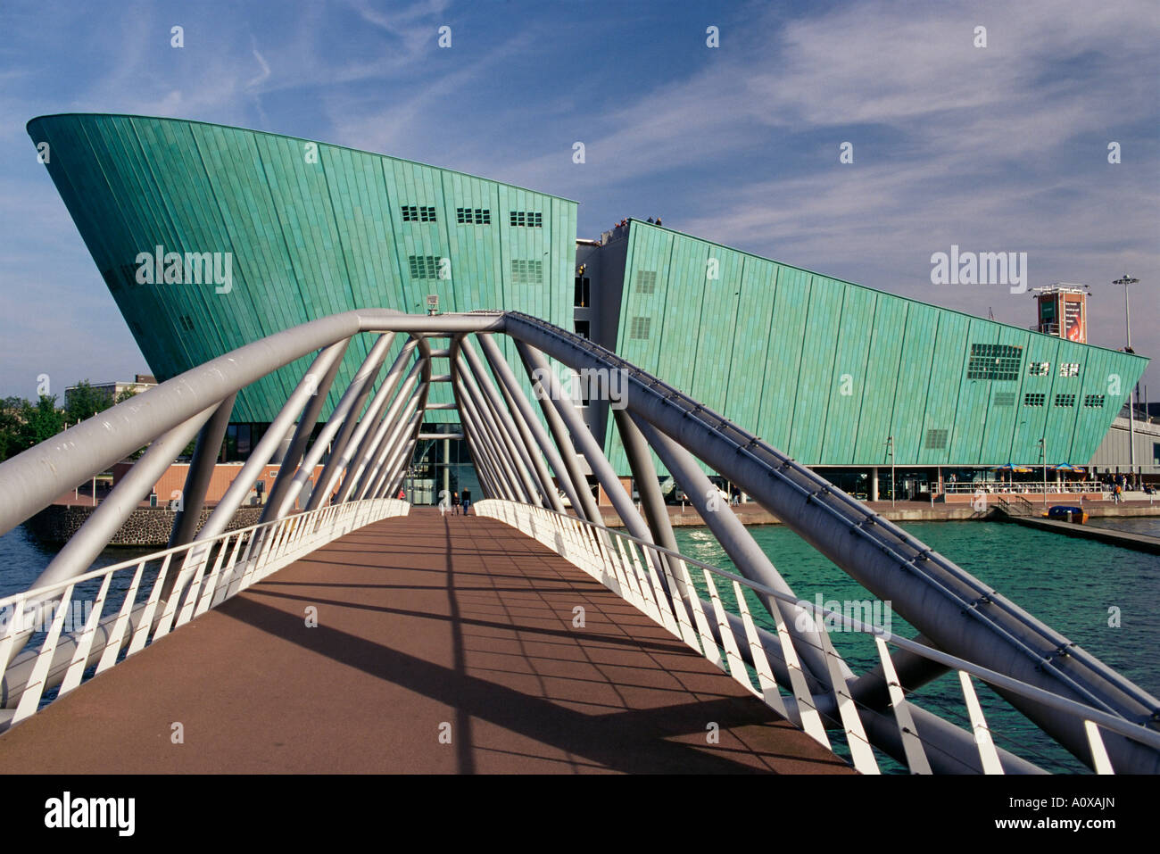 New Metropolis Science and Technology Centre designed by Renzo Piano Amsterdam The Netherlands Holland Europe - Stock Image
