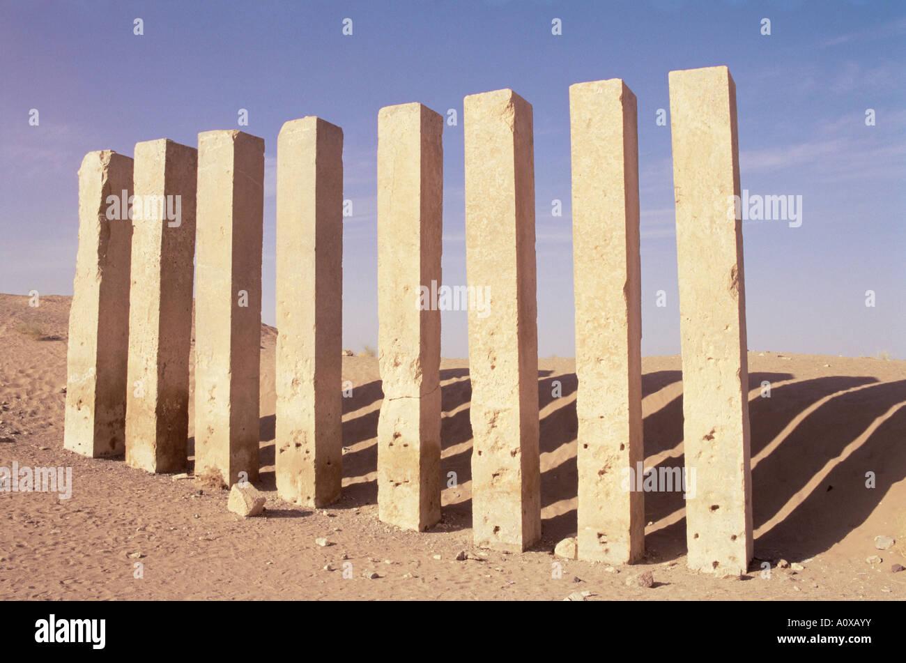 Awwam temple Ma rib Republic of Yemen Middle East - Stock Image