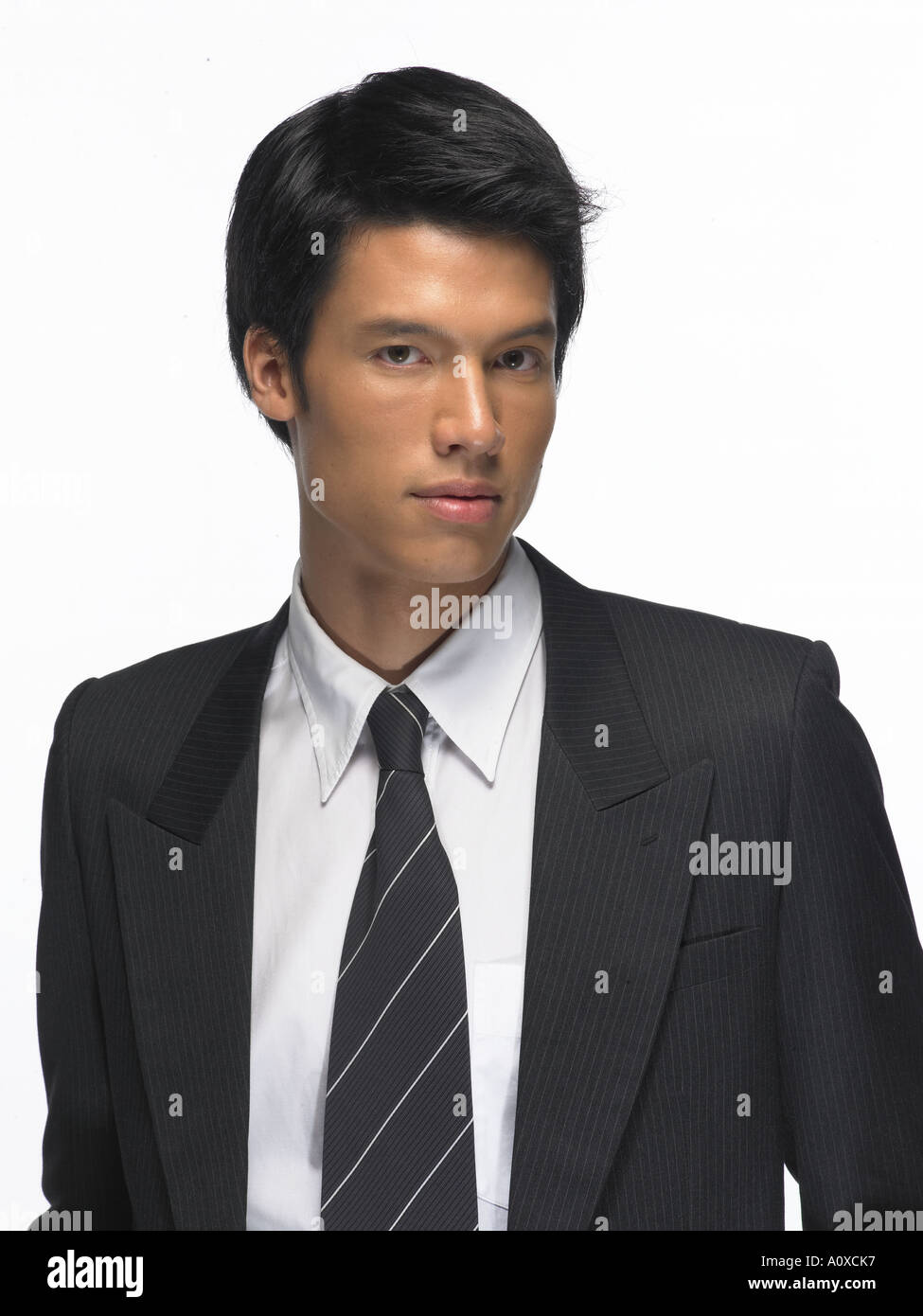 a portrait of young bussiness man - Stock Image