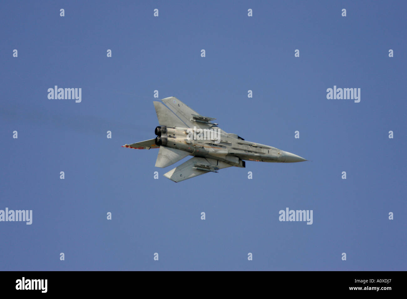 RAF Tornado F3 flying in blue sky RIAT2005 RAF Fairford Gloucestershire England UK - Stock Image