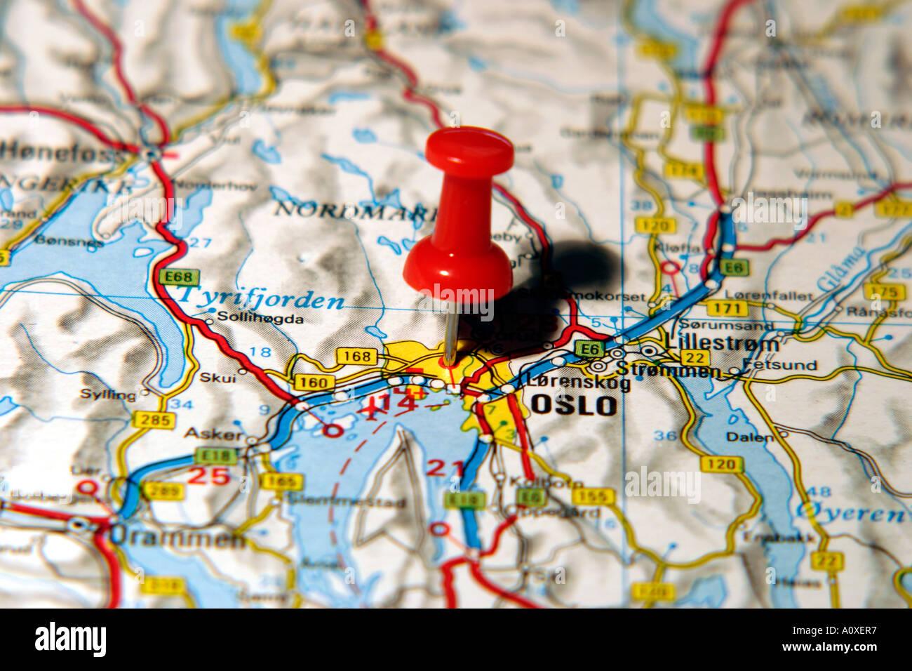 Oslo Map Stock Photos & Oslo Map Stock Images - Alamy Detailed Map Of Neska on