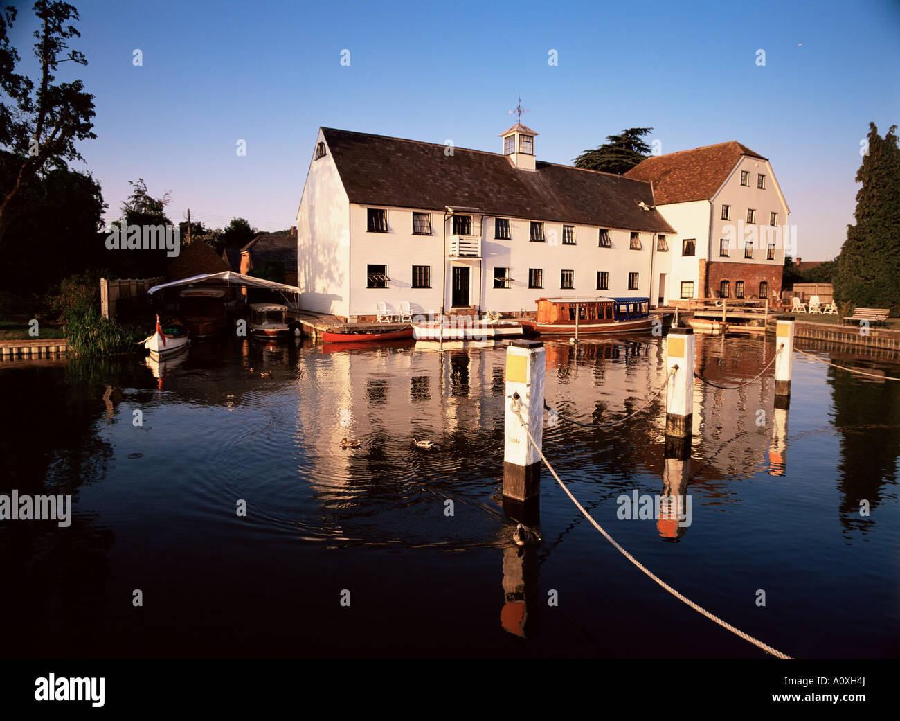 Hambleden Mill River Thames Buckinghamshire England United Kingdom Europe - Stock Image
