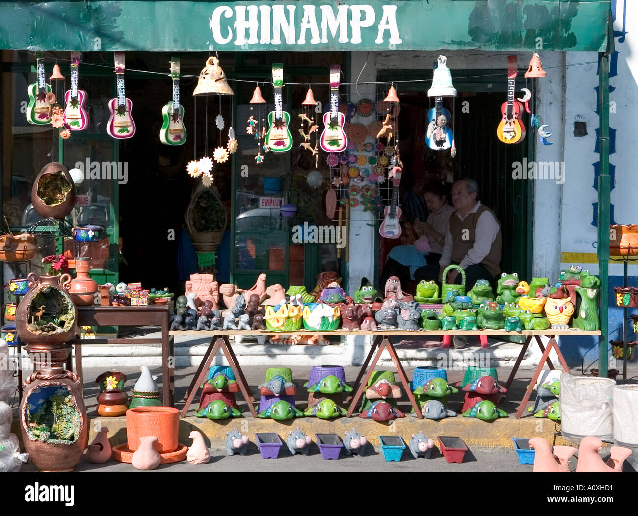 Shop in Mexico City selling odds and ends - Stock Image