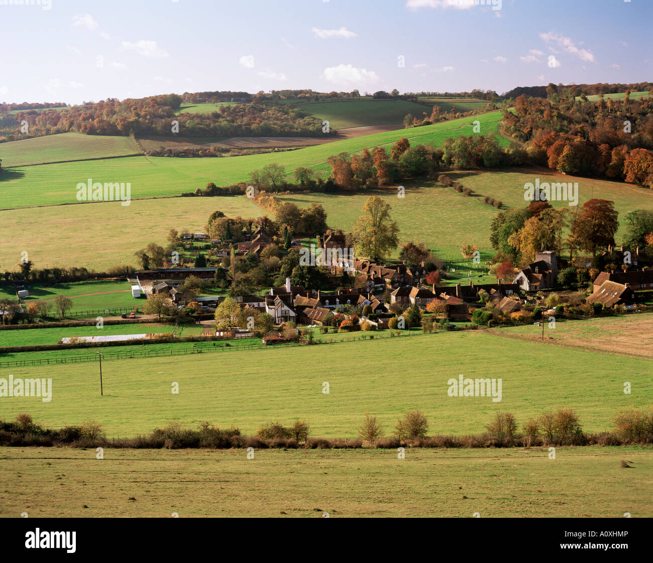 Turville Chilterns Buckinghamshire England United Kingdom Europe - Stock Image