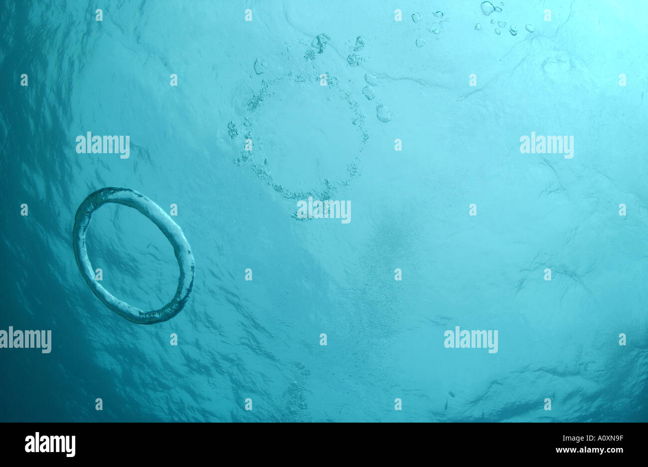 blow an diver sport a ring underwater rings how bubble to