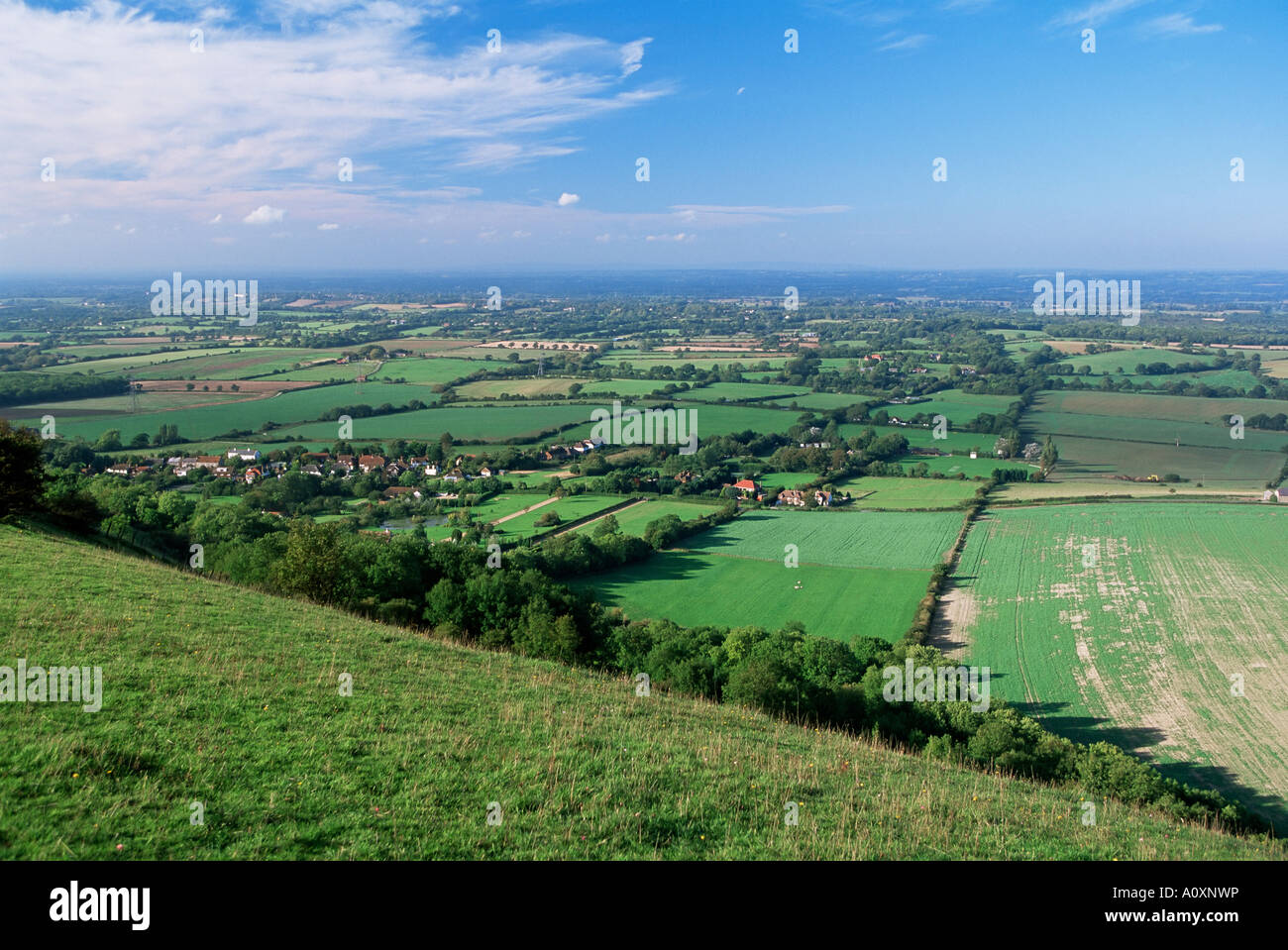 View from Devils Dyke West Sussex England United Kingdom Europe - Stock Image