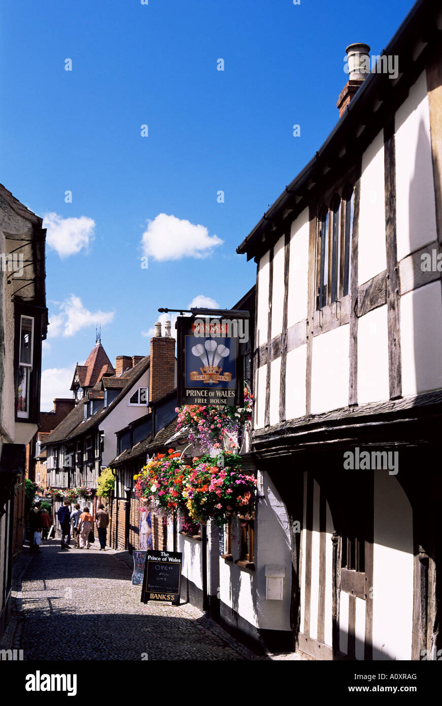 Church Lane Ledbury Herefordshire England United Kingdom Europe - Stock Image