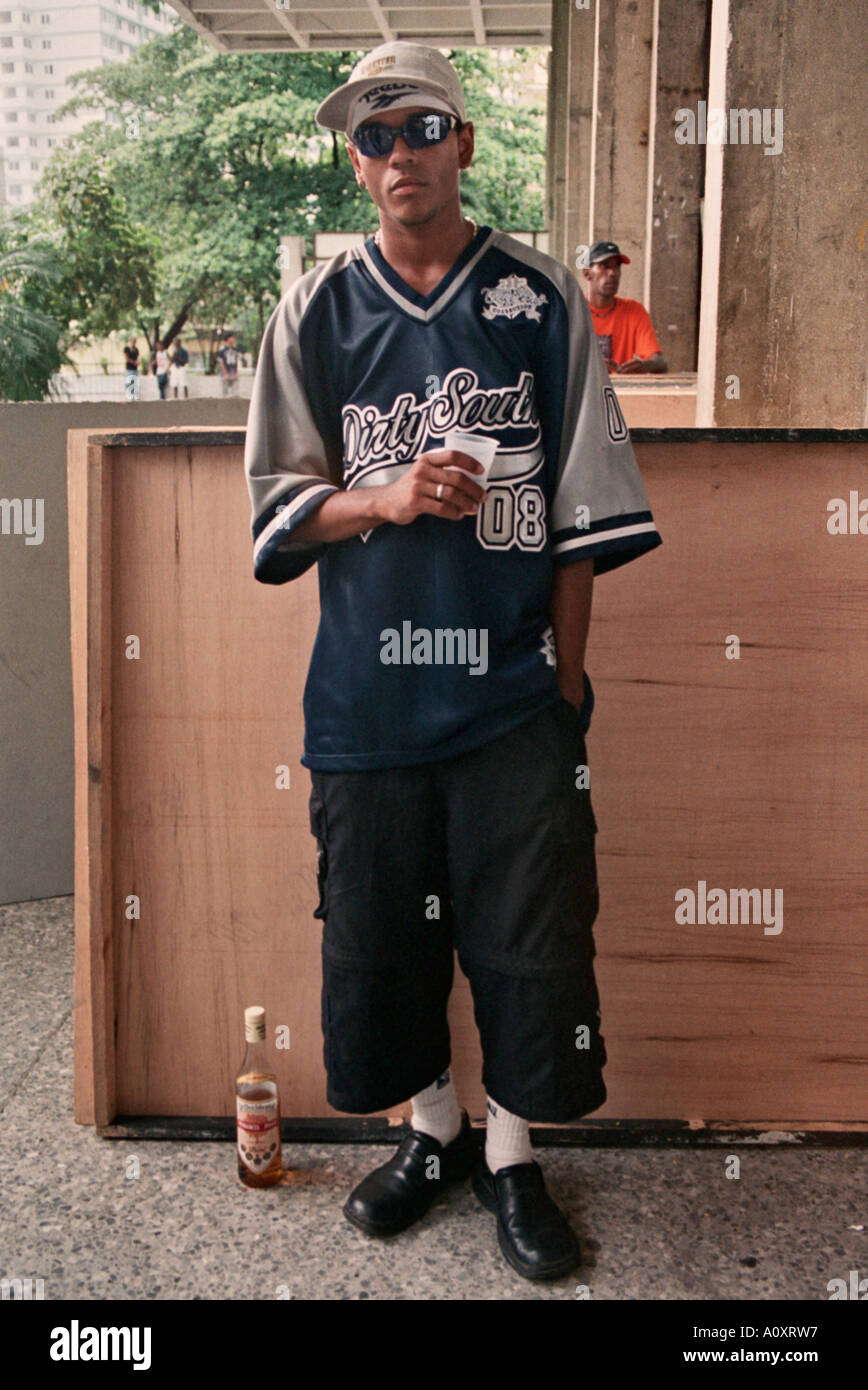 Havana, Cuba. Hip Hop fan at Club Pabellon Stock Photo