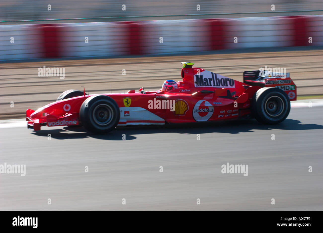 Rubens Barrichello In The Ferrari F2004 Formula 1 Racecar In 2005