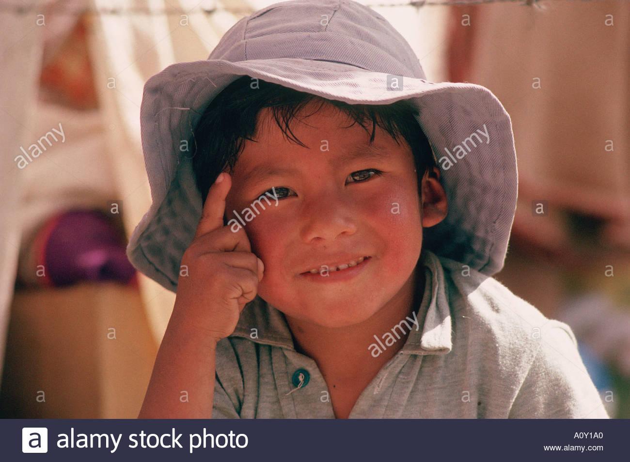Bolivia andes mestizo child stock image