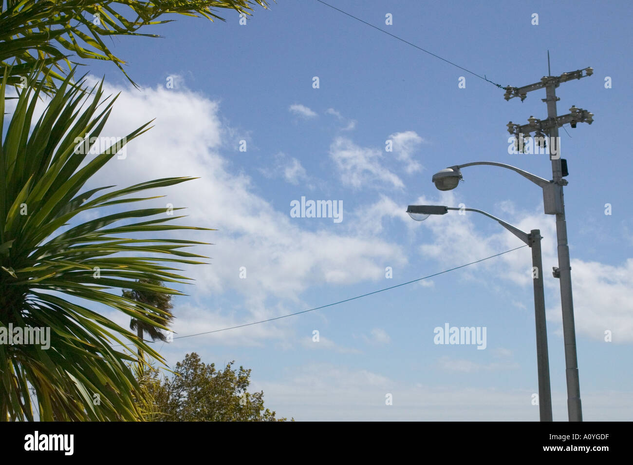 view of sky and lantarn Stock Photo