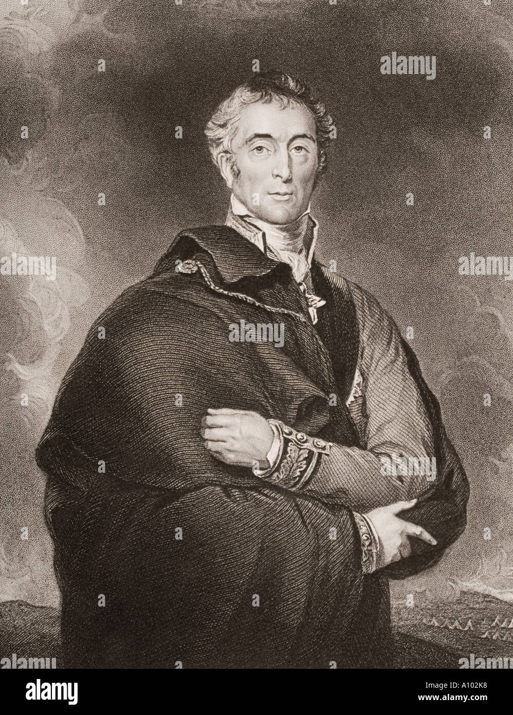 Arthur Wellesley 1st Duke of Wellington 1769 1852 British soldier and statesman - Stock Image