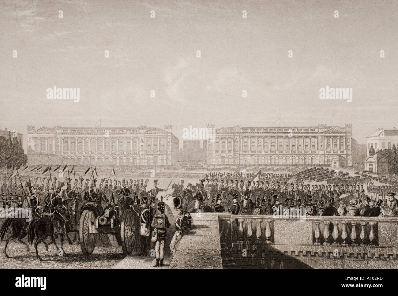 Entry of the allies into Paris 1815 - Stock Image