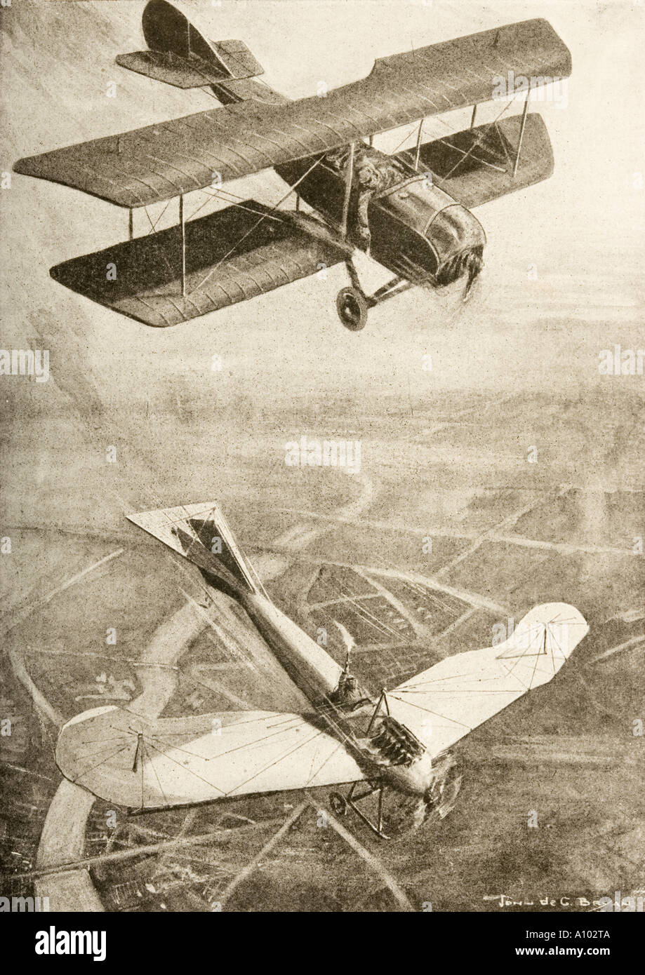 Aerial duel on the western front Stock Photo