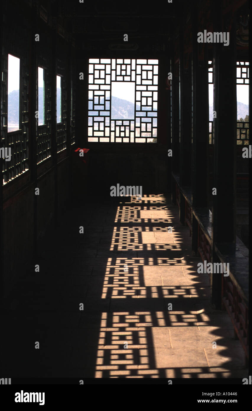 Pattern Of Light And Shade From Windows In Summer Palace Beijing China Amazing Pictures