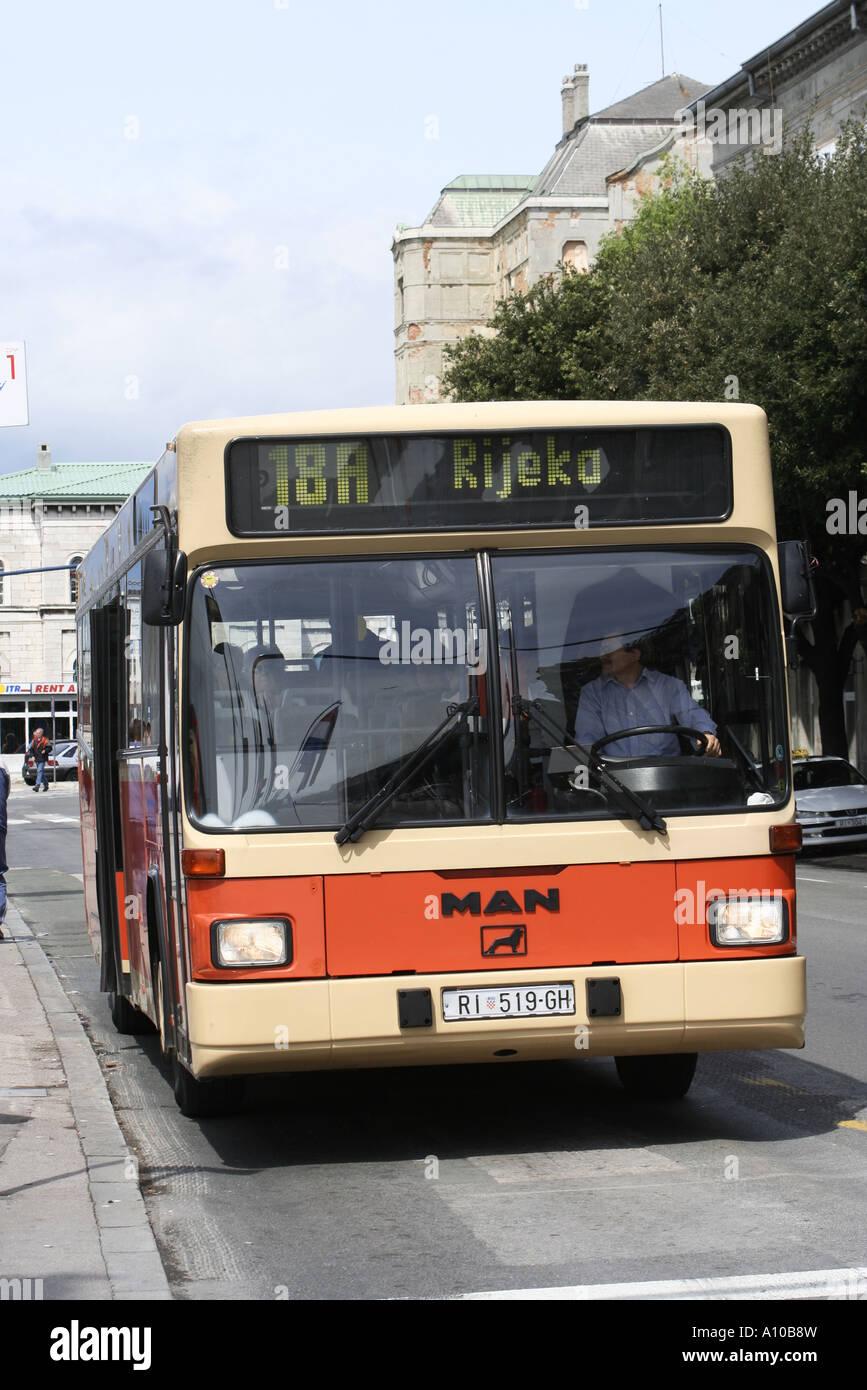 Bus In Rijeka Stock Photo Alamy
