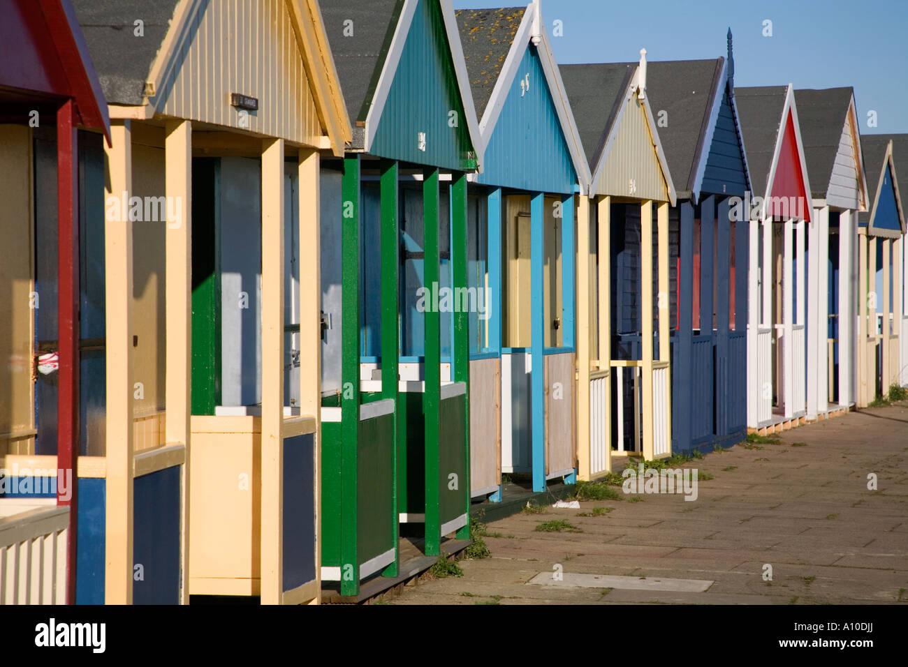 beach huts sutton on sea lincolnshire - Stock Image