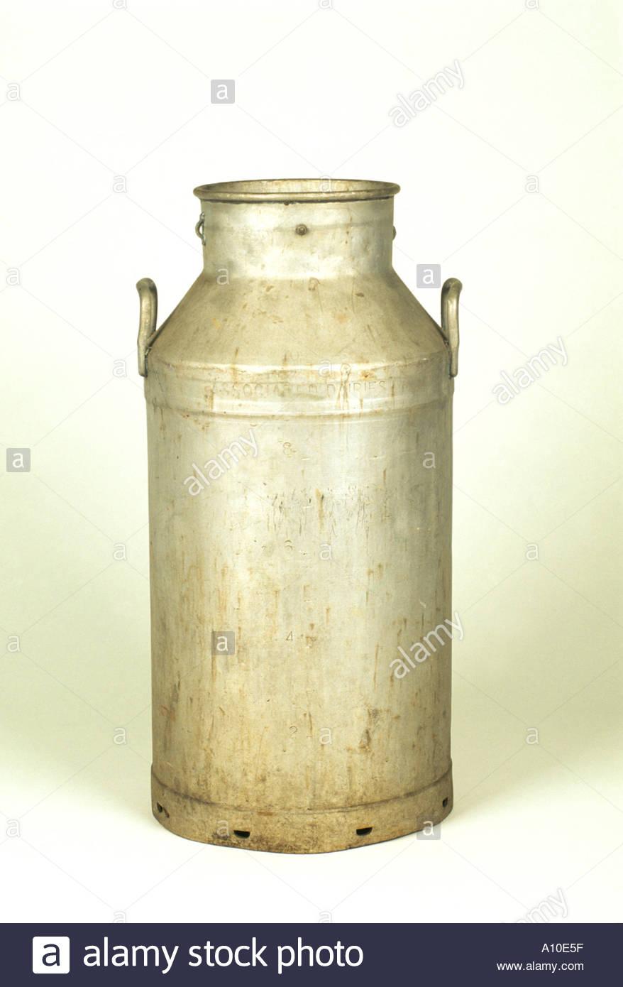 Old milk churn Stock Photo