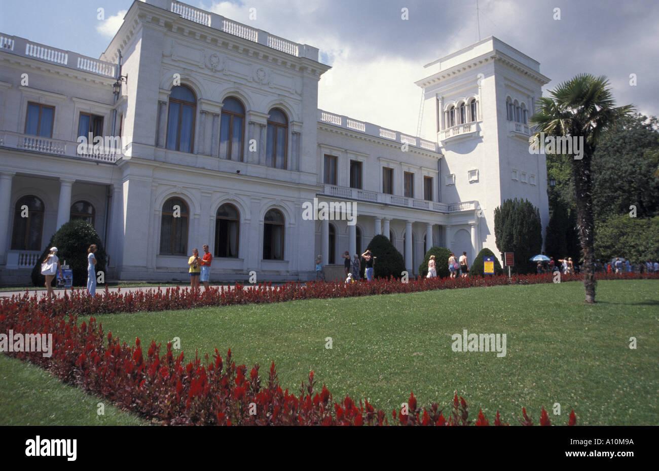 Crimea, Livadija palace - Stock Image