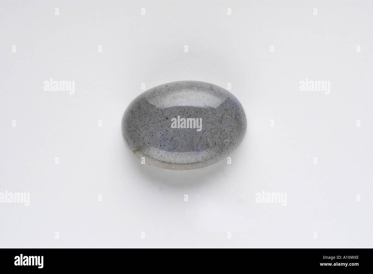 UGA75759 Moon Stone Grey Semi Precious Stones - Stock Image