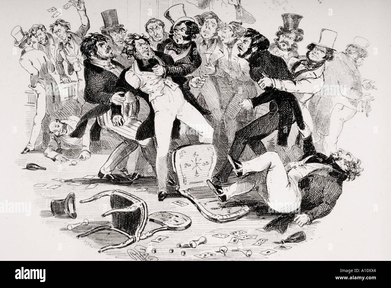 Charles Dickens novel Nicholas Nickleby - Stock Image