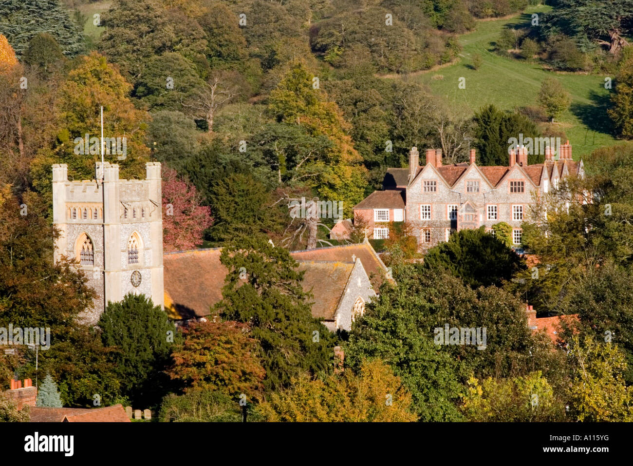 Hambleden Village - Thames Valley - Buckinghamshire - Stock Image
