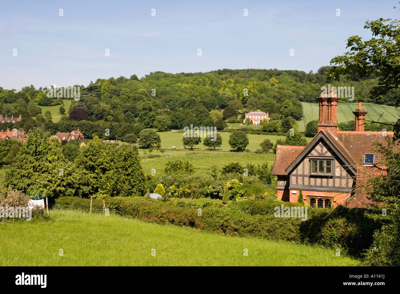 Thames Valley near Hambleden Village - Buckinghamshire - Stock Image