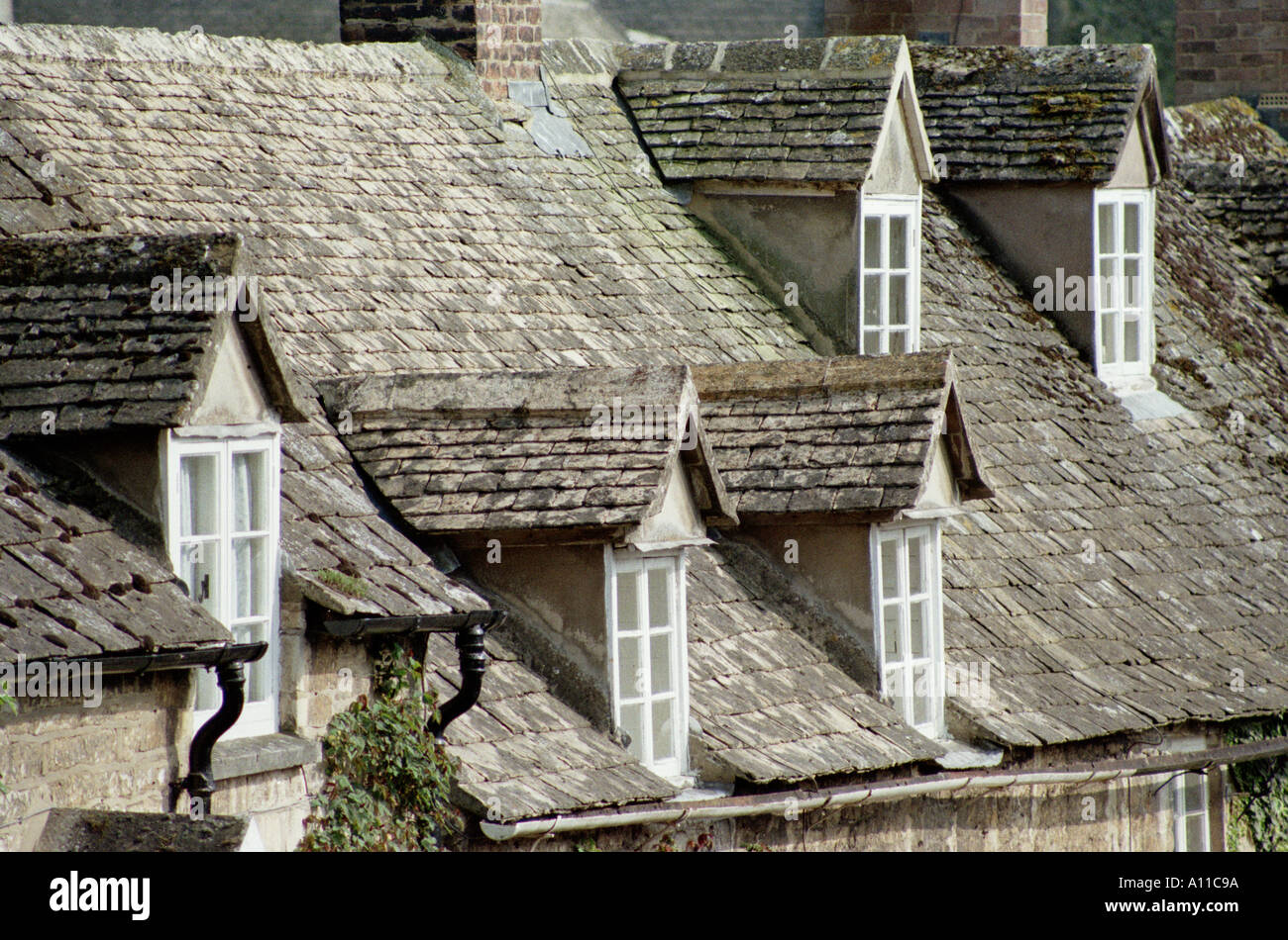 With Cotswold Stone Tiles Slates Stock Photos Amp With