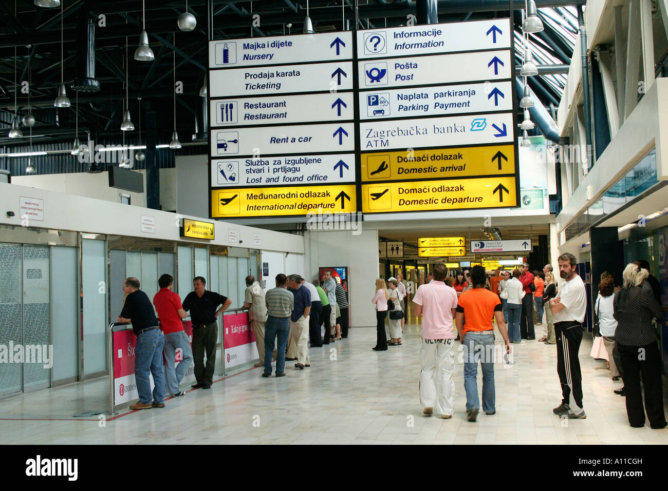 Arrivals At Zagreb Airport Stock Photo Alamy