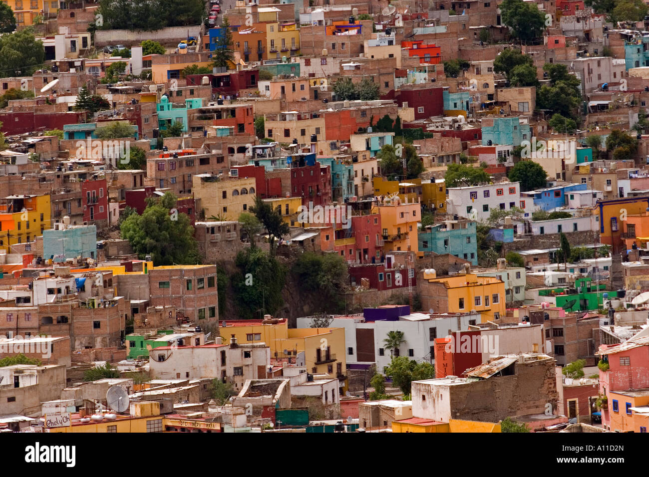 66ccb6eec3b6 A Guanajuato centre airview (Mexico). Vue d ensemble de la ville de  Guanajuato (Guanajuato, Mexique).