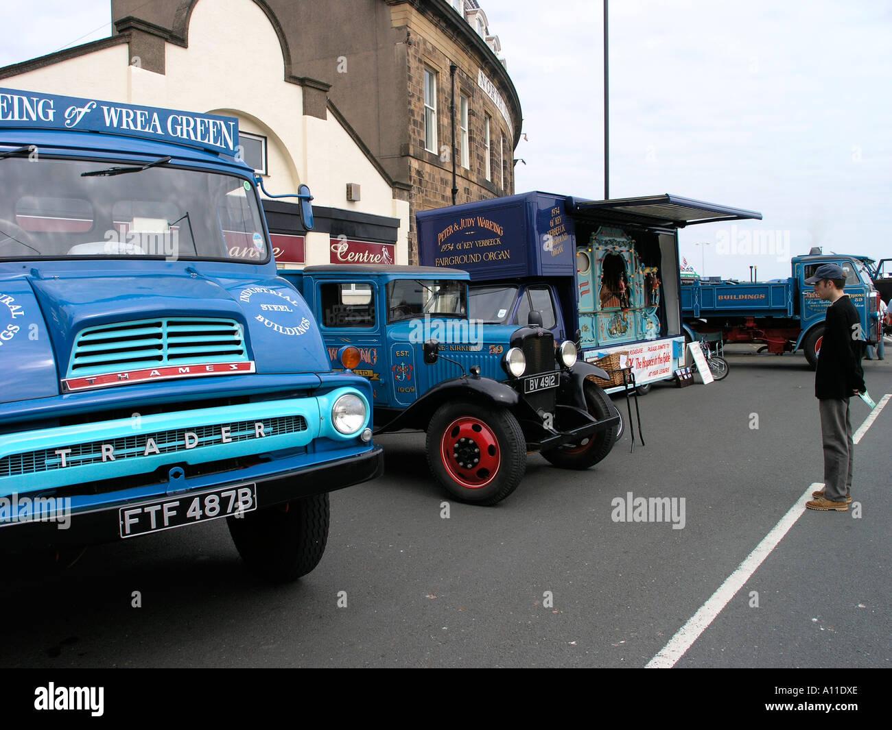 Vintage Transport Enthusiasts at Fylde Fleetwood Transport Festival 2005 - Stock Image