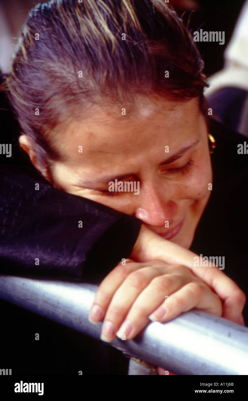 cry with pain beirut lebanon - Stock Image