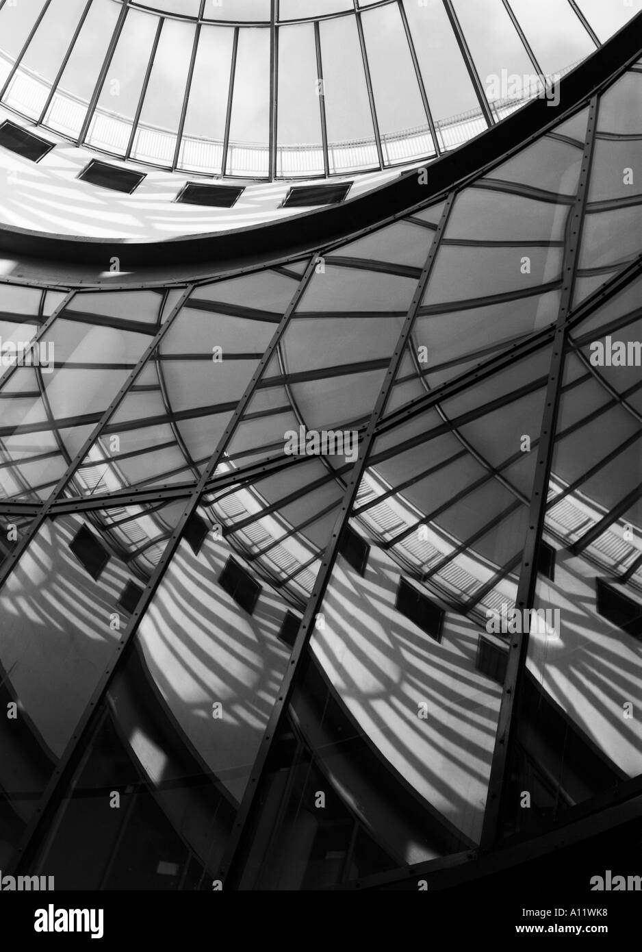rotunda architectural detail of Schirn Art Gallery in Frankfurt Main Germany Stock Photo