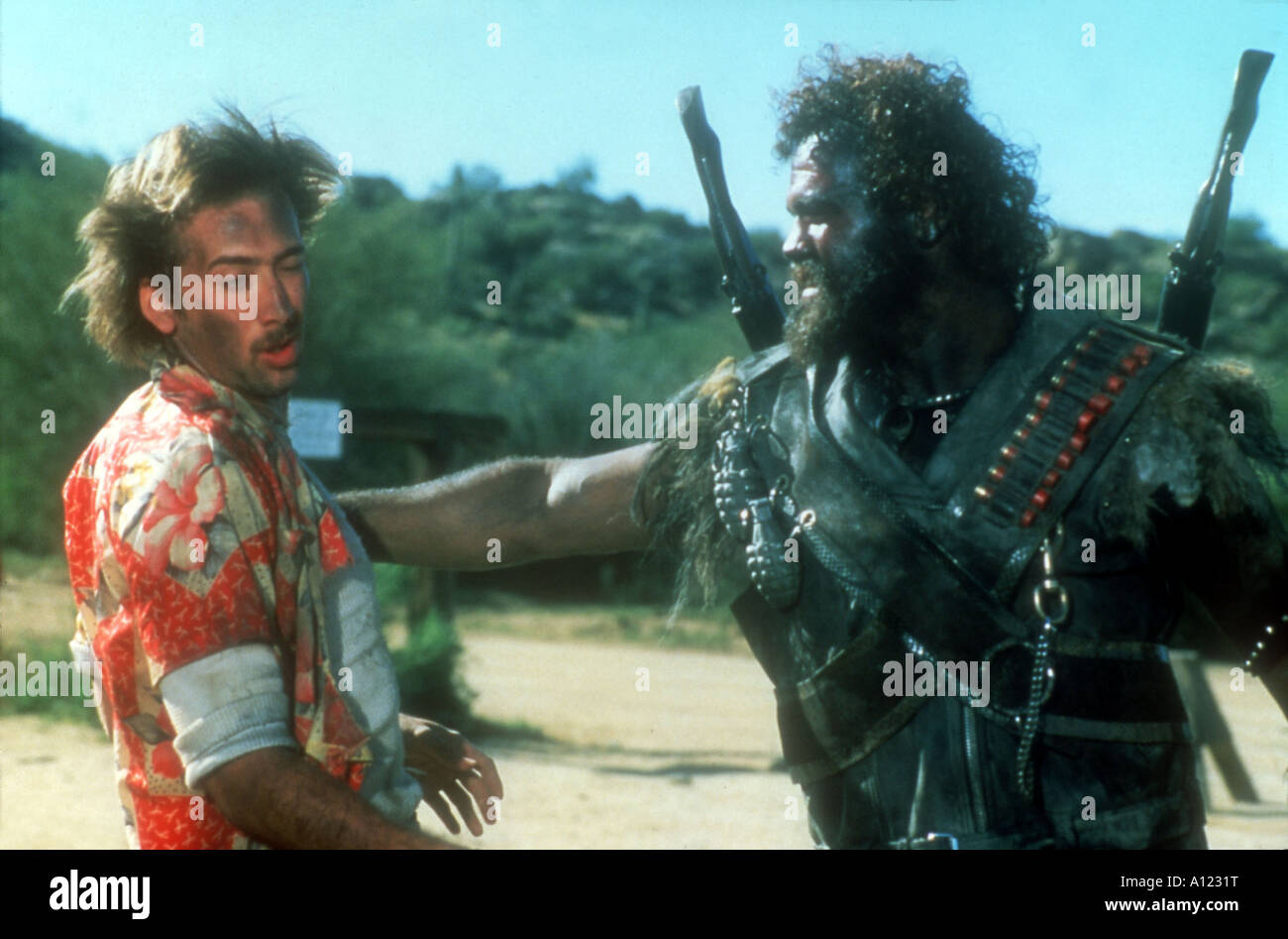 Raising Arizona Year 1986 Director Joel Coen Nicolas Cage Randall Tex Cobb - Stock Image