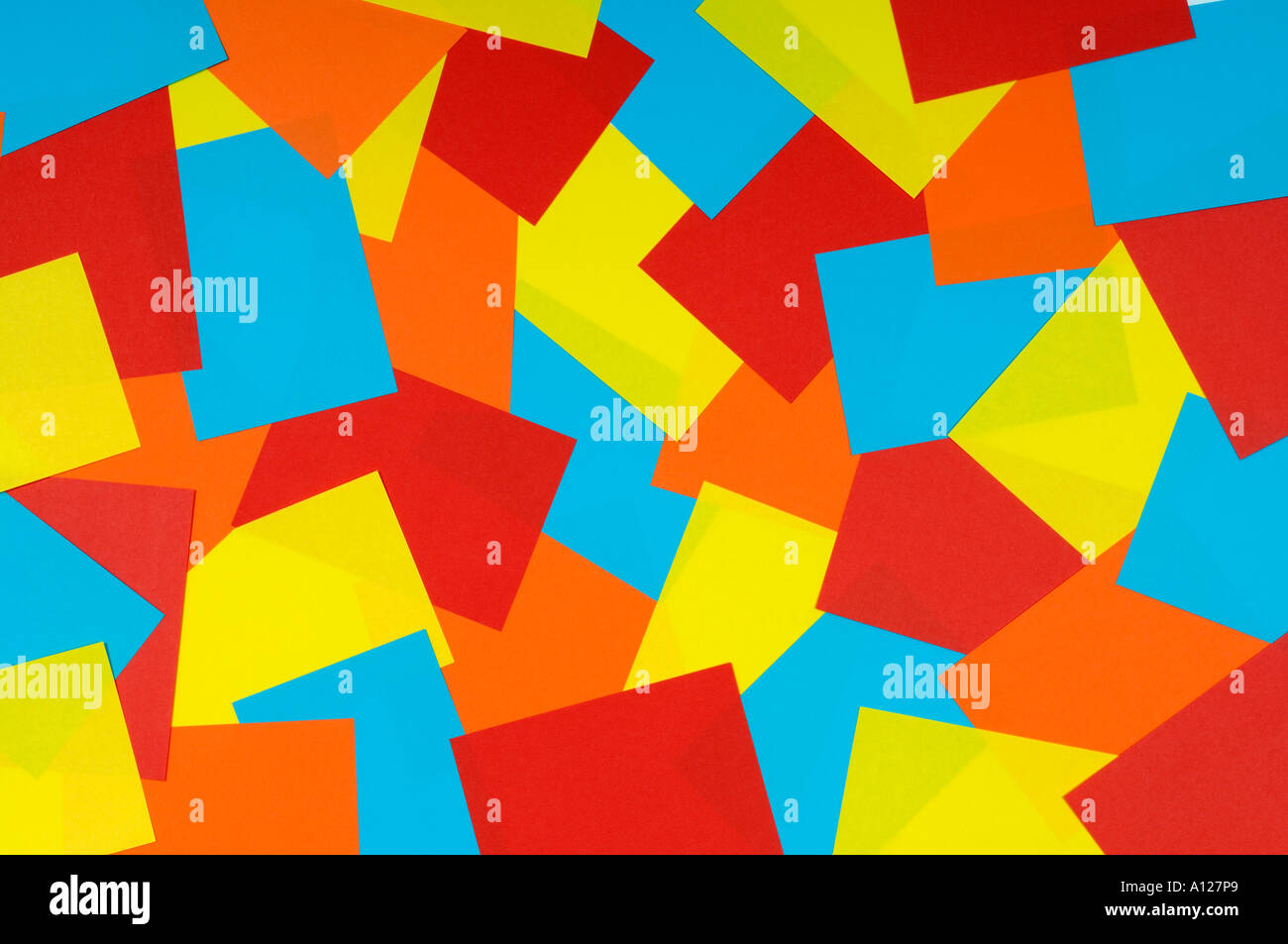 Coloured paper - Stock Image