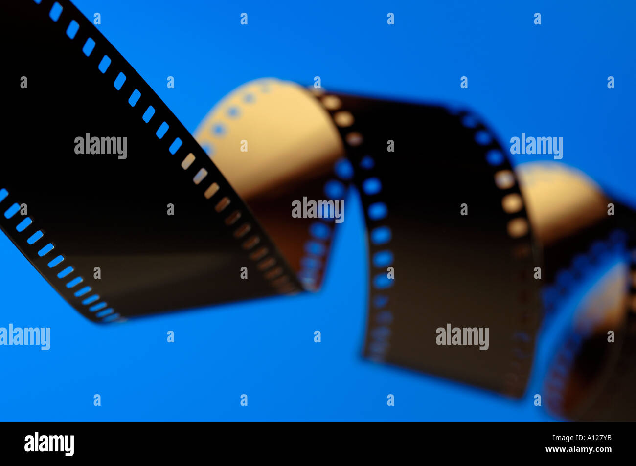 Strip of 35mm photo film - Stock Image