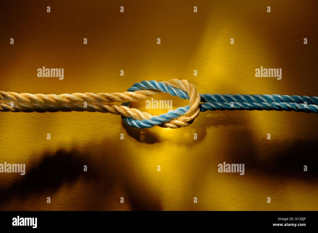 Knotted rope - Stock Image