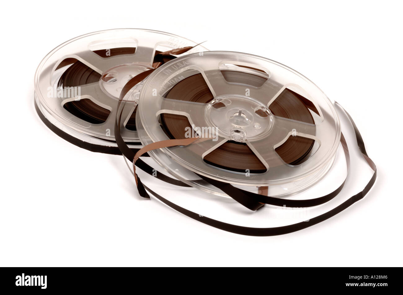 Two reels of audio tape - Stock Image