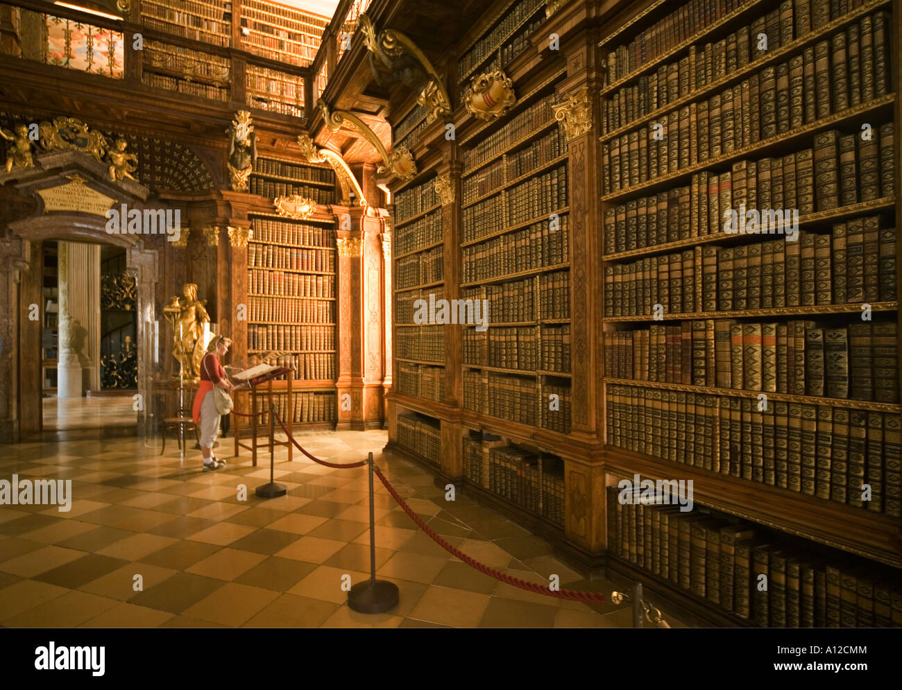 Melk Abbey Library Stock Photos  Melk Abbey Library Stock-9097