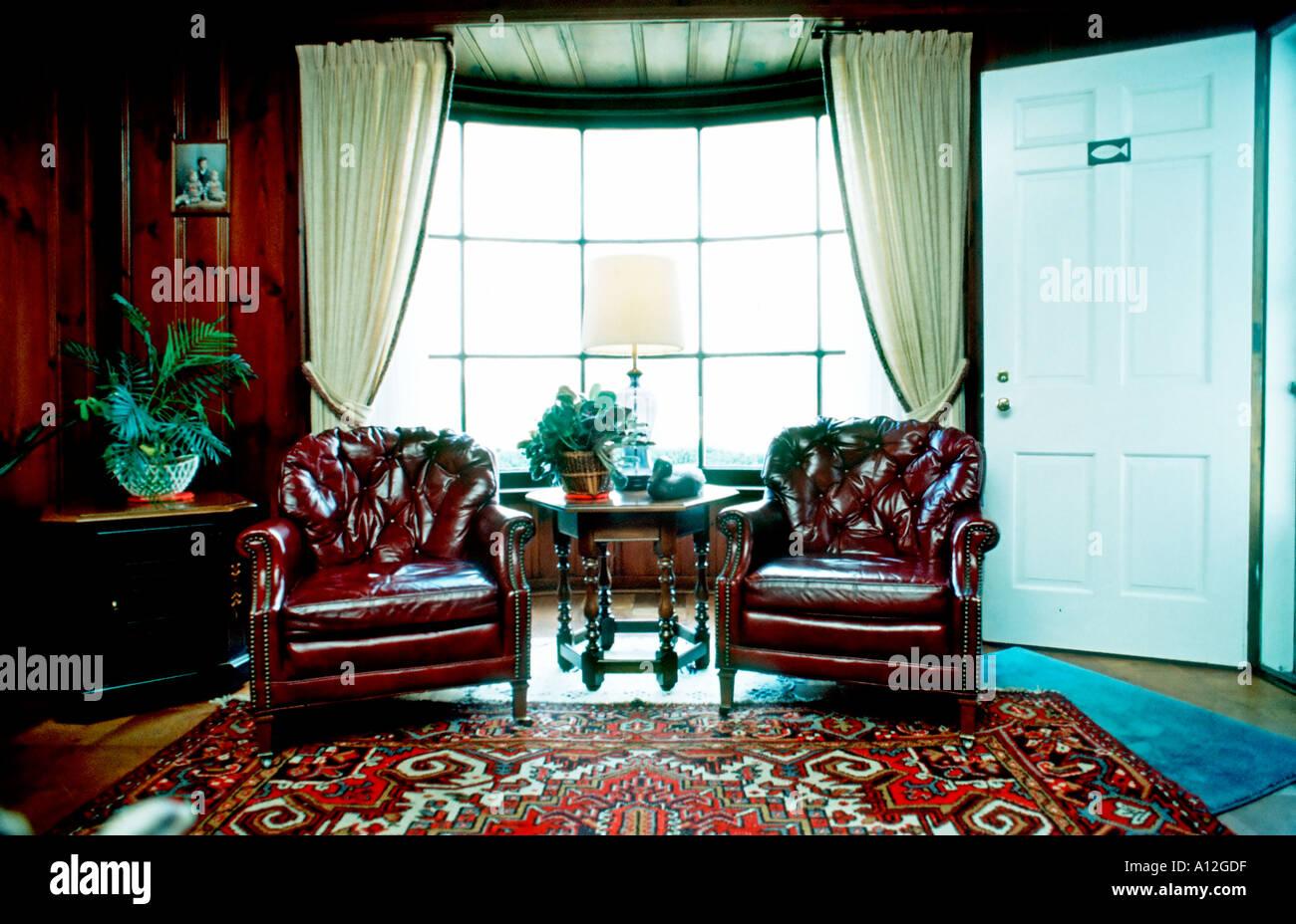 Investment USA American U0027Single Family Houseu0027 Interior Family Room U0027Stuffed  Chairsu0027 With