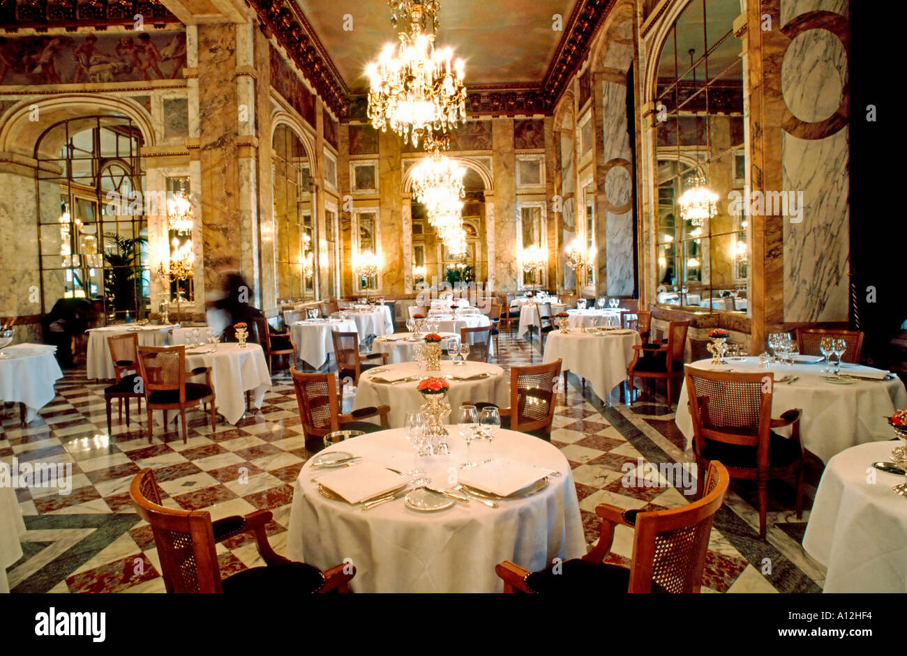 Paris france french haute cuisine restaurant interior