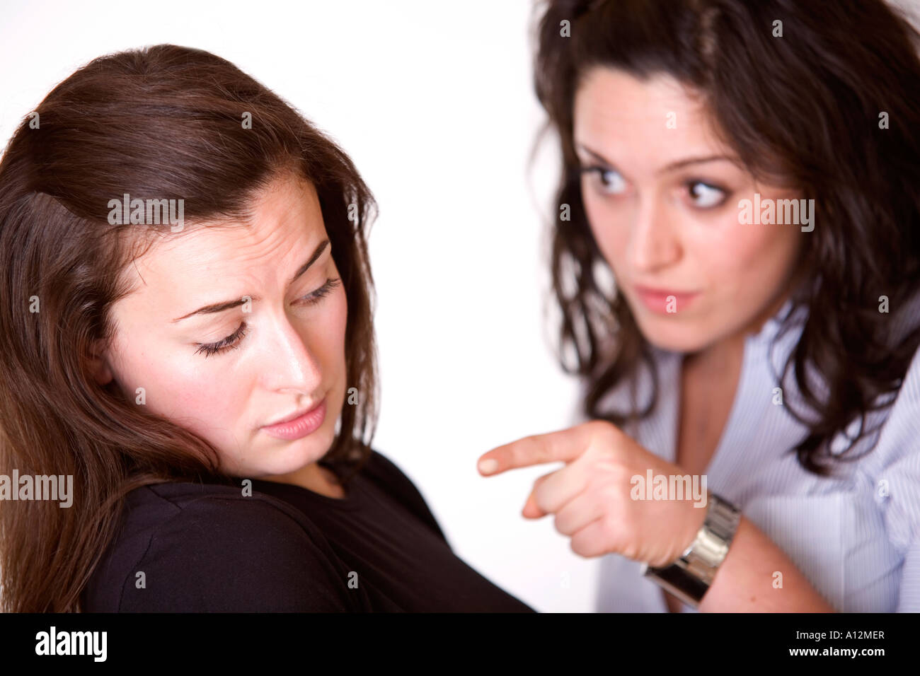 Two women having an argument - Stock Image
