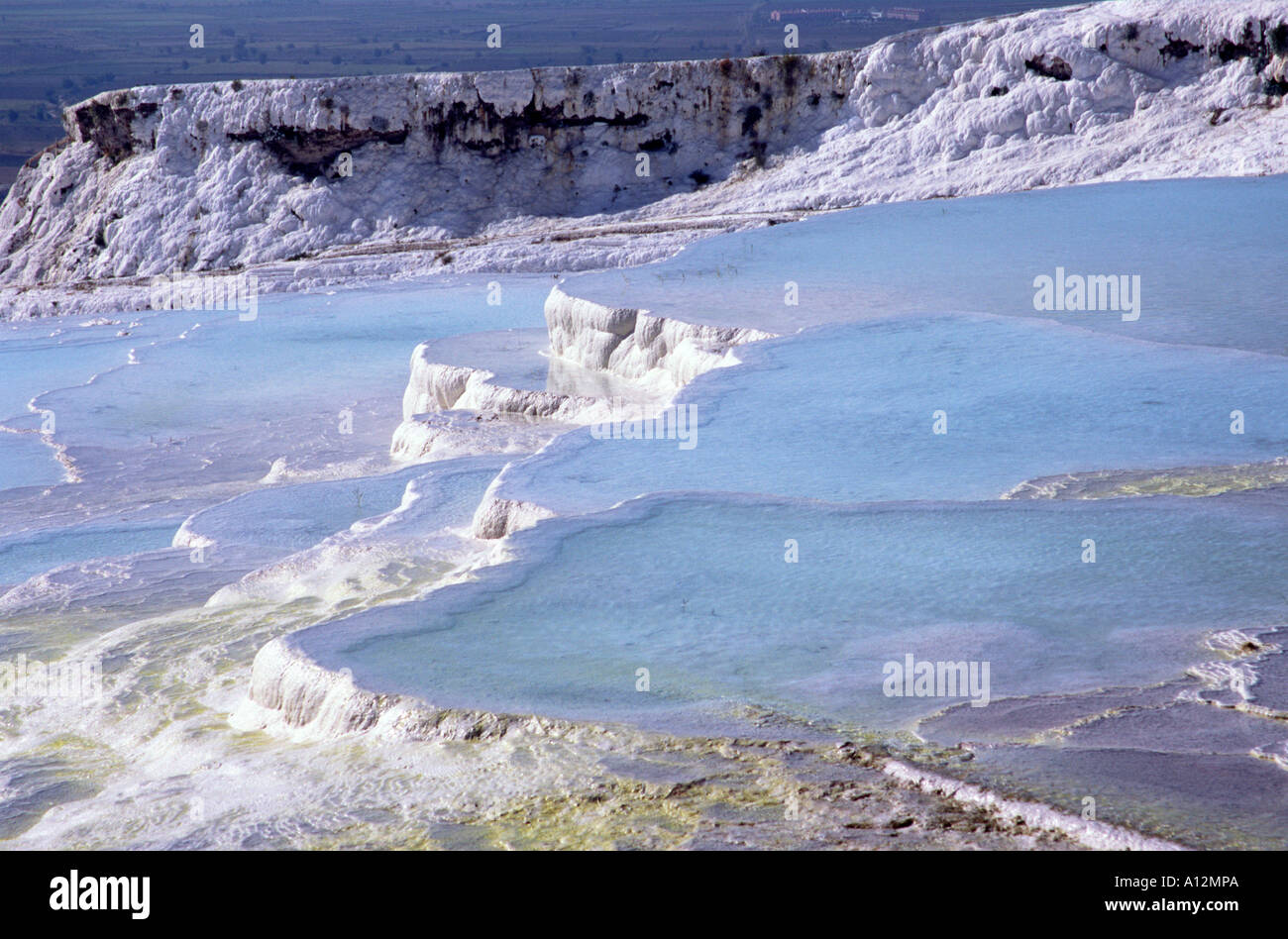 The calcified water at Pamukkale, Turkey Stock Photo: 5784937 - Alamy