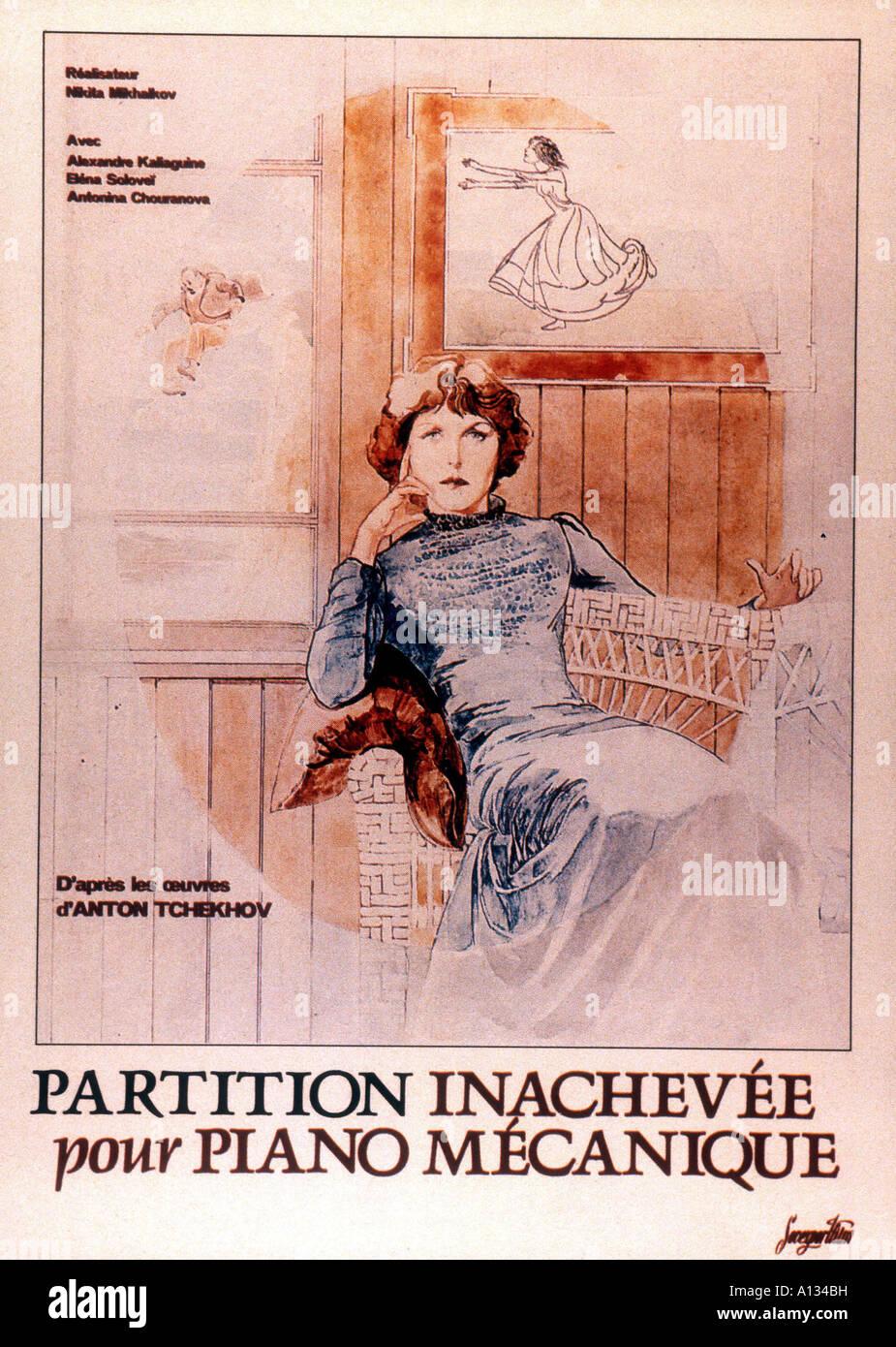 Neokontchennaia piesa dlia mekhanitcheskogo pianino 1977 Nikita Mikhalkov Movie poster - Stock Image