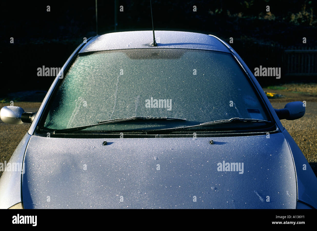 Ford Ka Windscreen Covered In November Frost