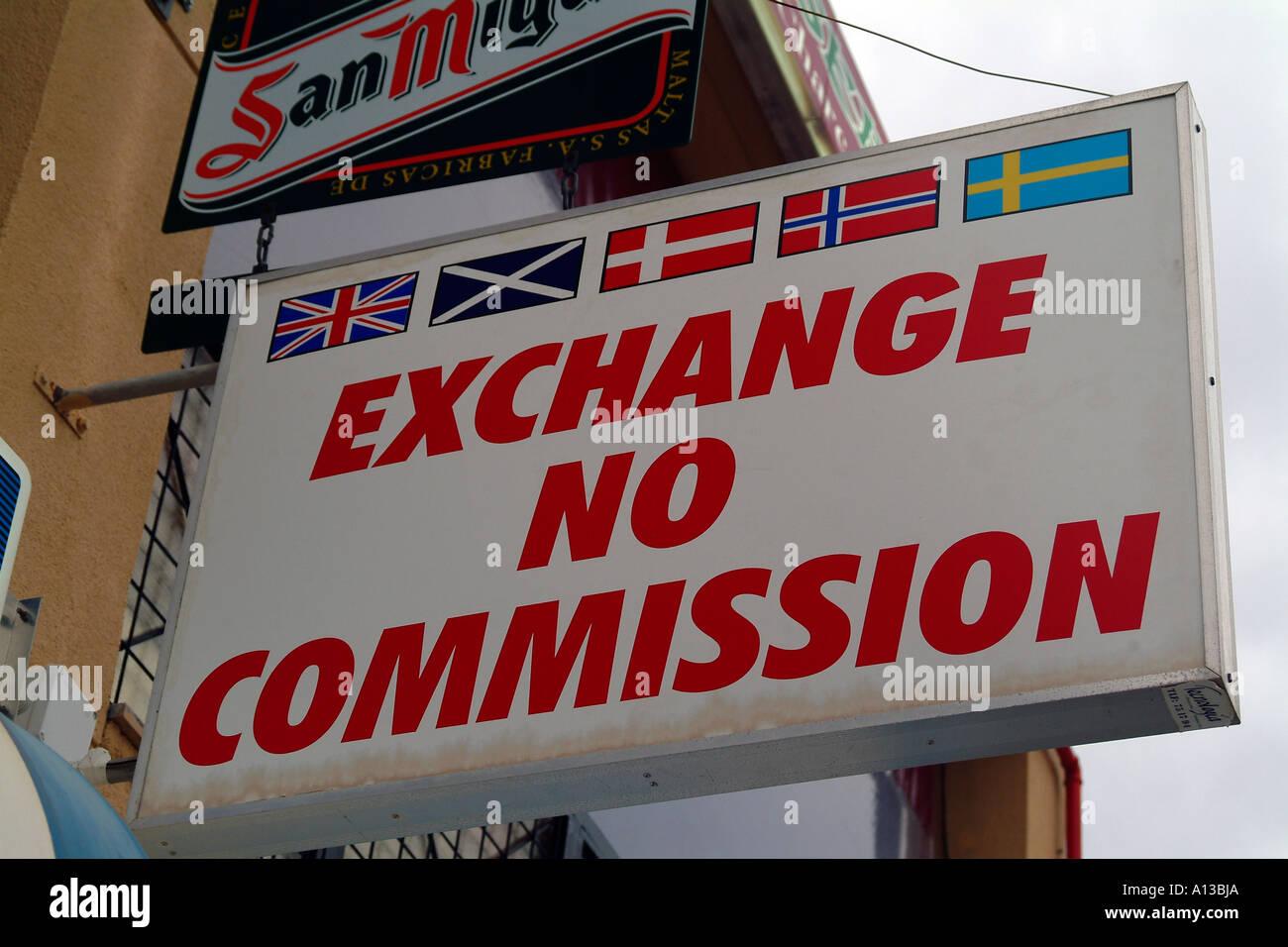 Exchange No Commission Bureau De Change Stock Photo Alamy