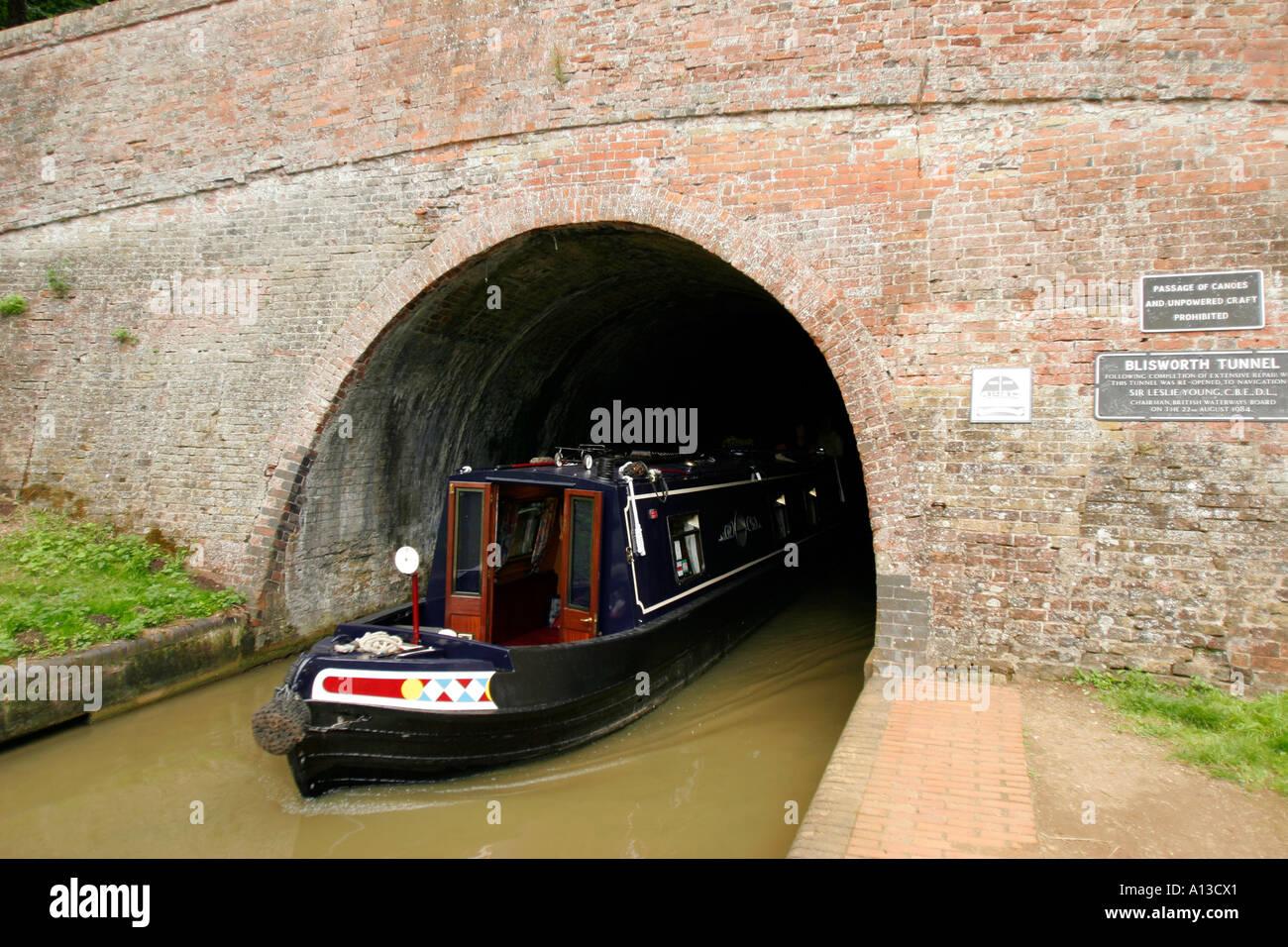 united kingdom Northamptonshire stoke bruerne blisworth tunnel on the grand union canal - Stock Image